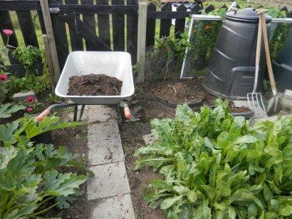Compost uit de moestuin